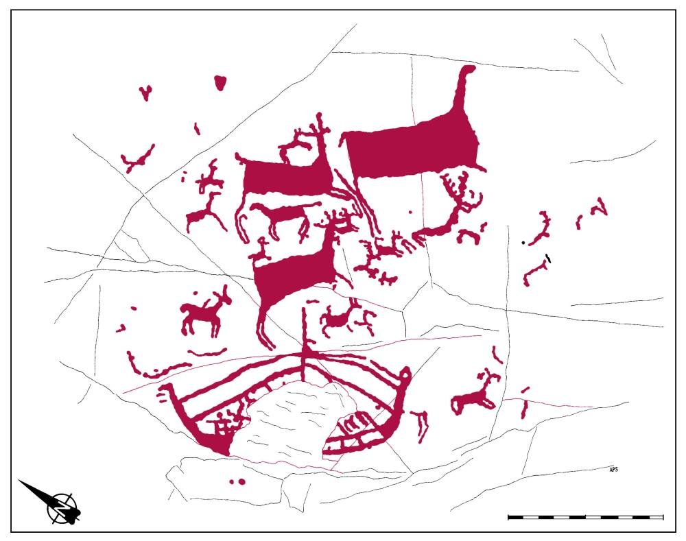 Barcos mediterráneos en petroglifos gallegos