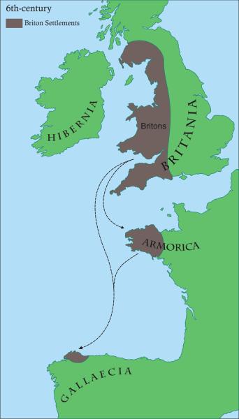Asentamientos bretones en el NO de Hispania. El nacimiento de Britonia