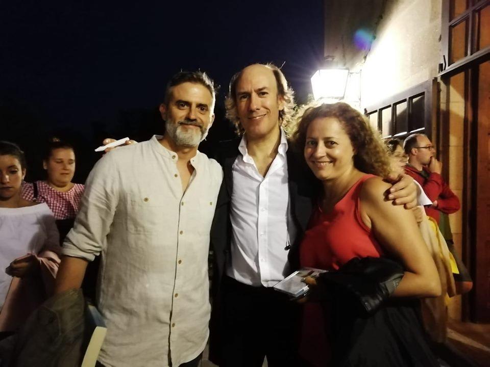 Master class de musica celta en el concierto de Carlos Nuñez en Baiona