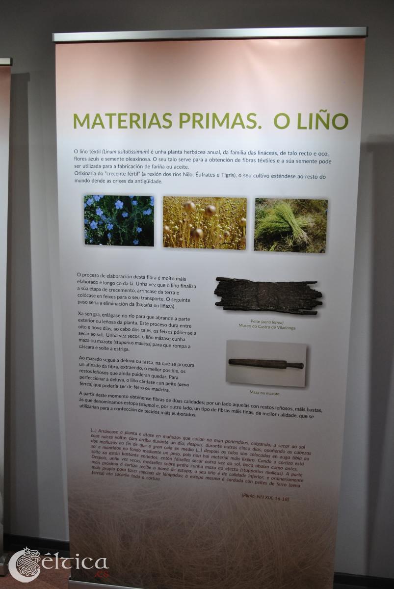 Exposición sobre tejido y vestimenta en la cultura castreña. Castro de Viladonga