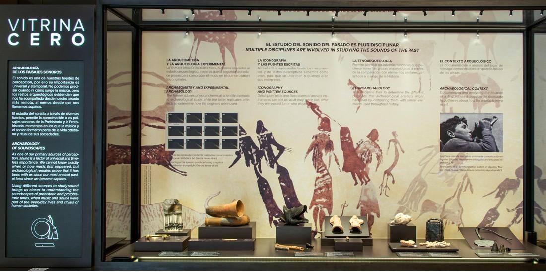 Jornada online: Arqueología de los paisajes sonoros. Vitrina 0, Museo Arqueológico Nacional