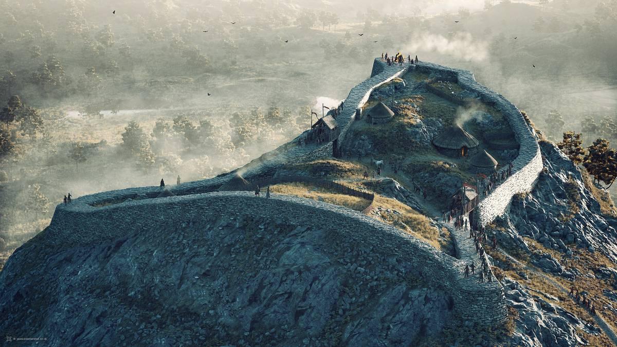 30 ilustraciones de poblados celtas