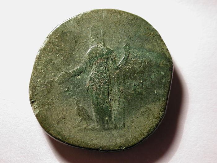 La moneda romana descubierta en el castro de Elviña