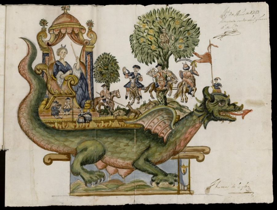 La tarasca, el monstruo celta que el cristianismo incorporó al Corpus Christi