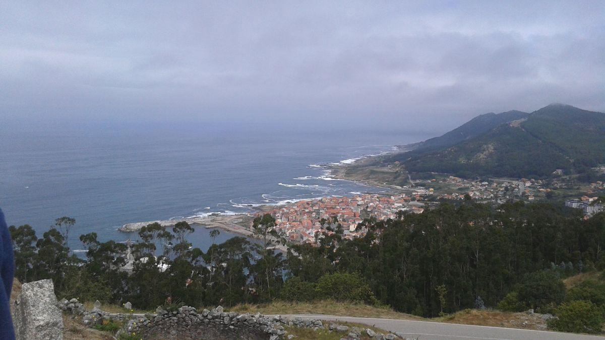 Vista hacia el norte desde el castro. Abajo A Guardia. Foto propia